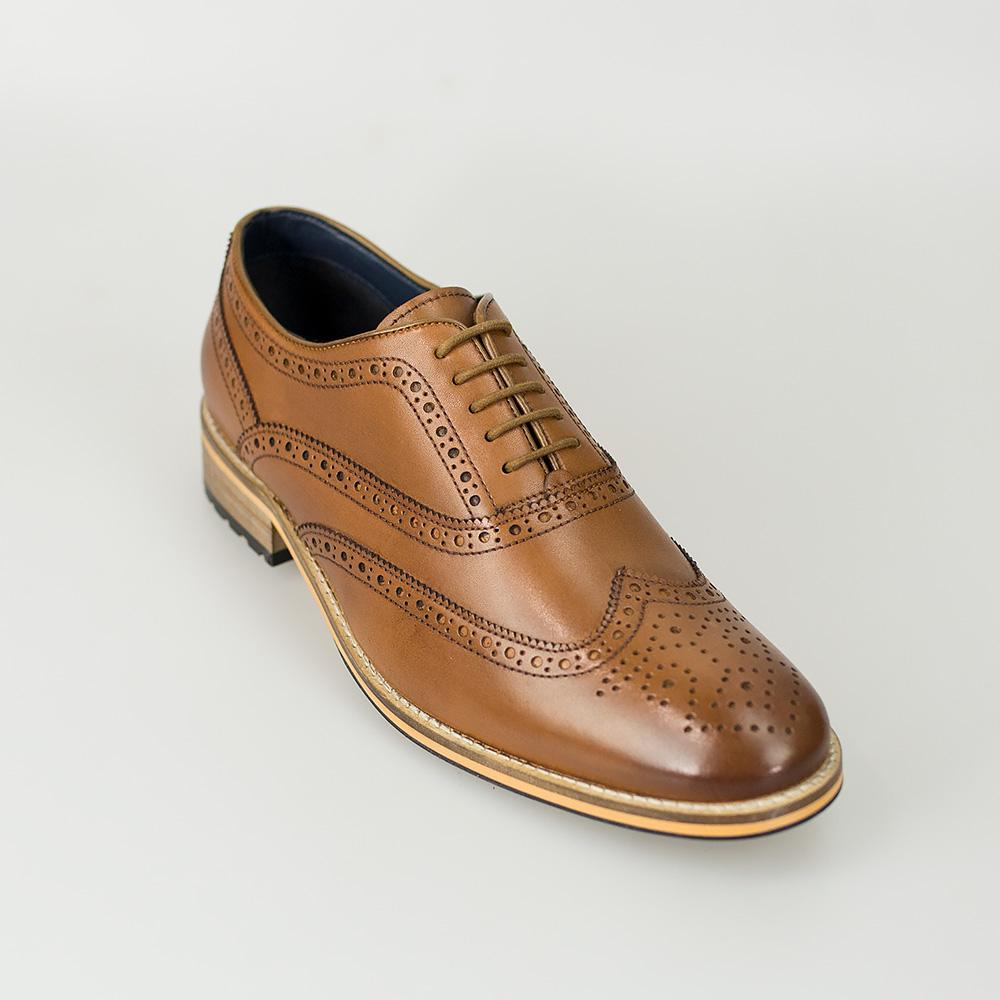 Cavani Lake Tan Brogue Shoes