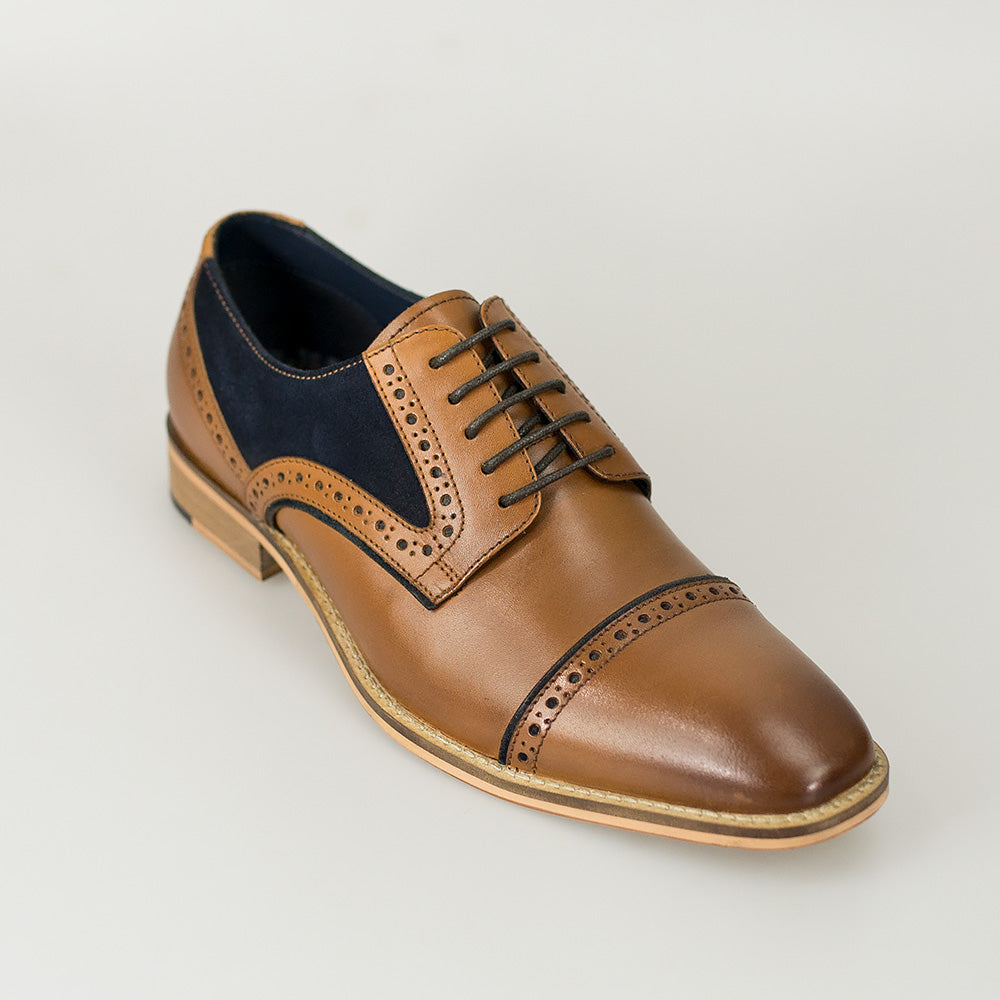 Cavani Naples Tan Leather Shoes