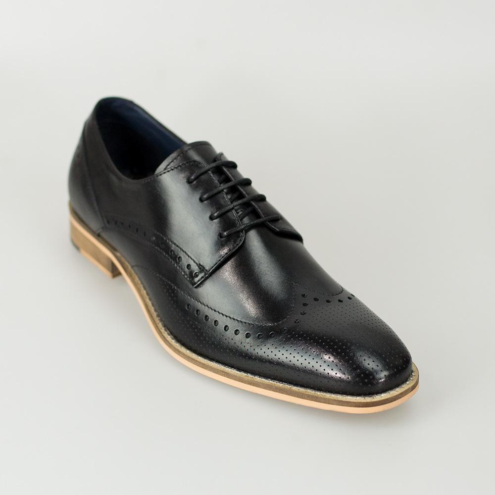 Cavani Rome Tan Brogue Shoes