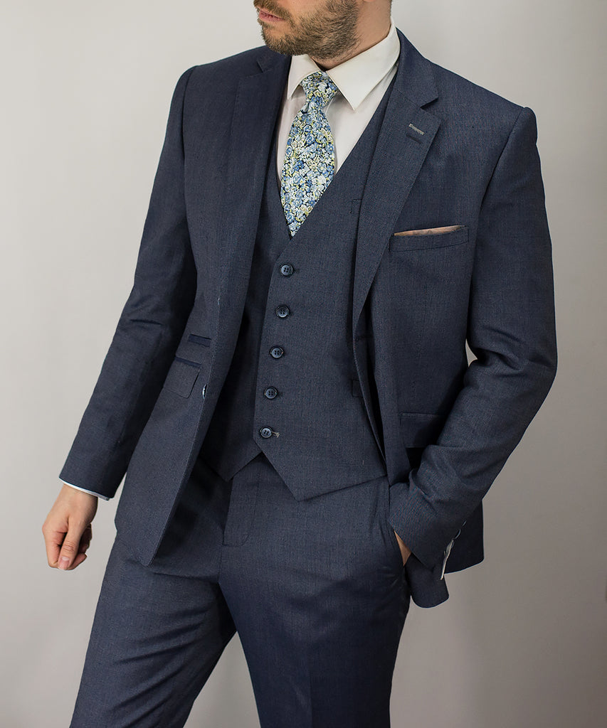 Cavani Steel Grey Three Piece suit