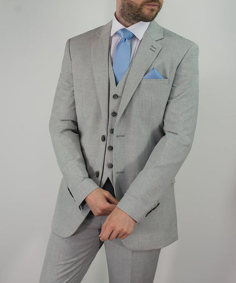 Cavani Veneto Light Grey Three Piece suit