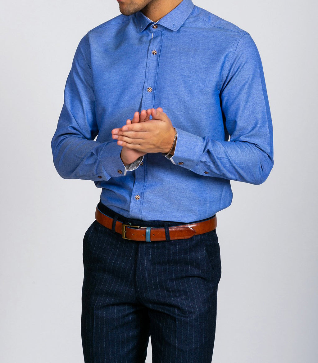 Marc Darcy Charles Blue Button Down Collar Shirt