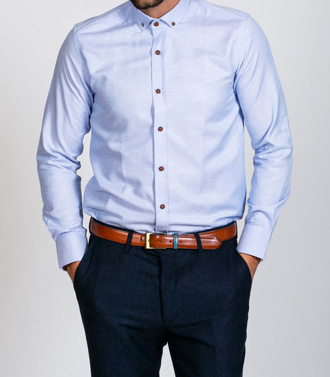 Marc Darcy Charles Sky Blue Button Down Collar Shirt