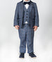 Marc darcy Hilton Blue checked children's Tweed Suit