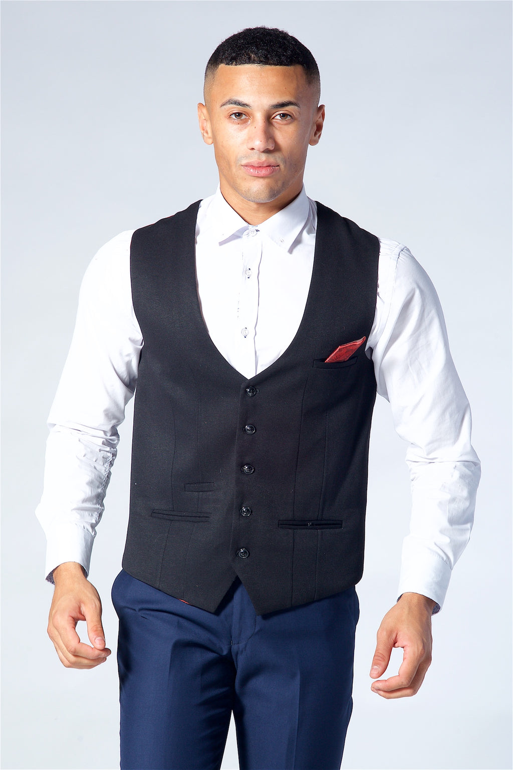 Marc Darcy Kelly Black Single Breasted Waistcoat