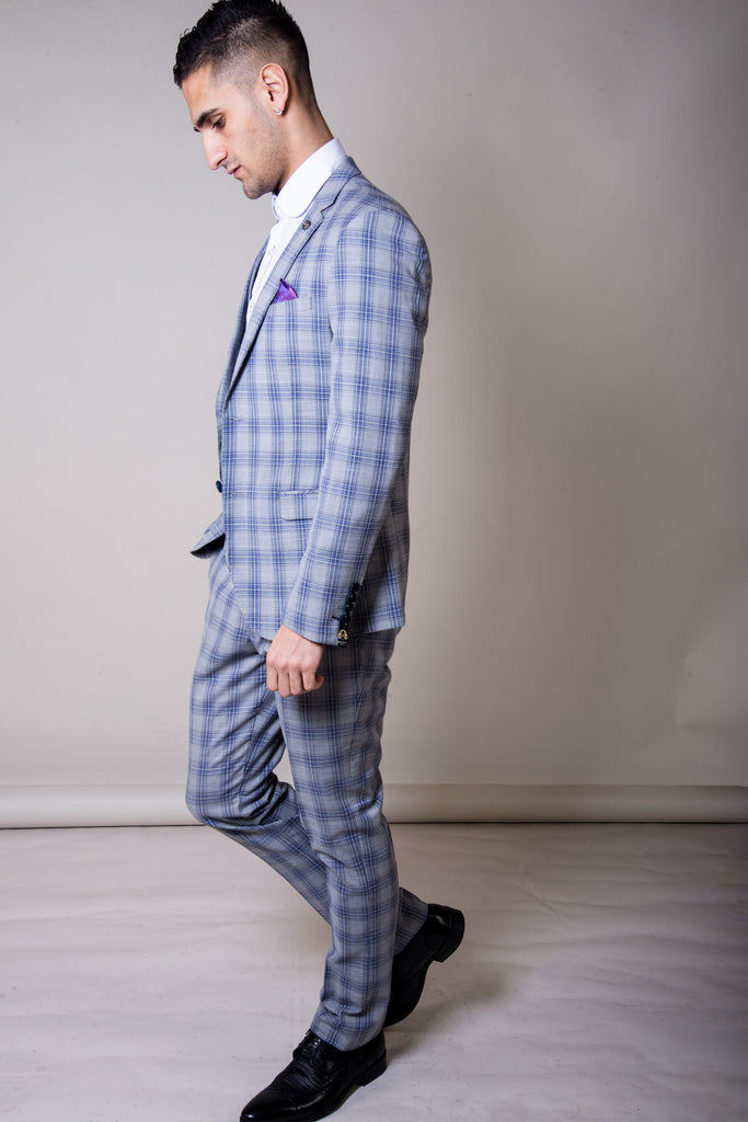 Marc Darcy Jack Grey Check Blazer