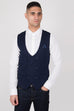 Marc Darcy Kelly Blue Double Breasted Waistcoat