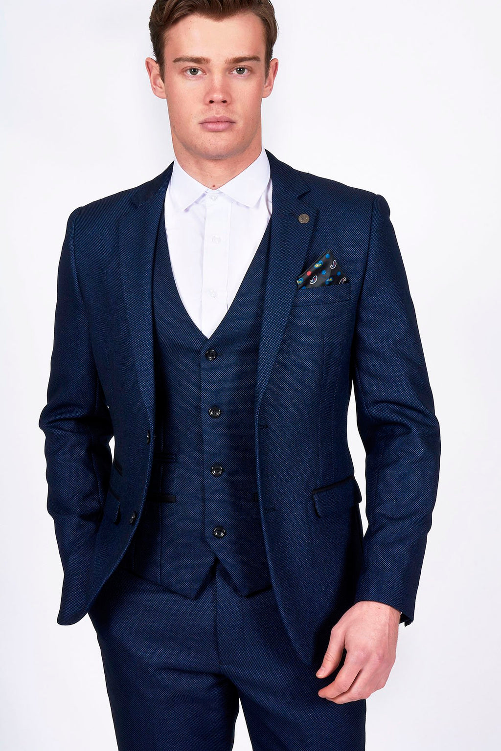Marc Darcy Callum blue Three Piece Suit