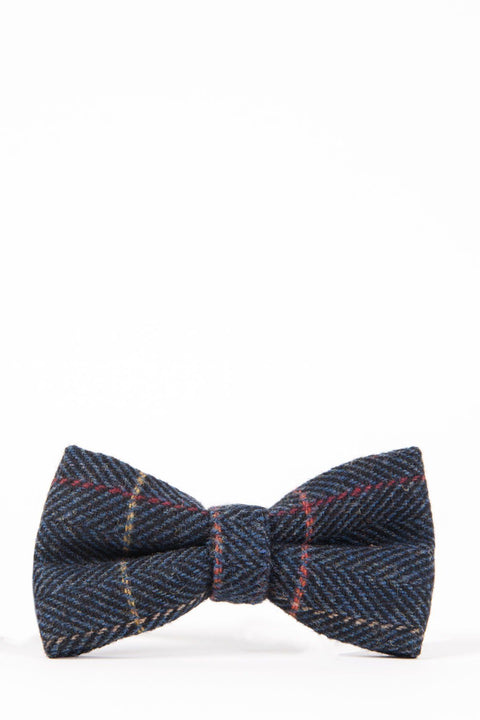 Eton blue tweed bow tie