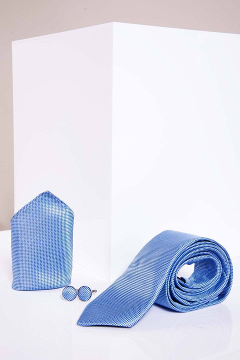 Blue birds eye tie set