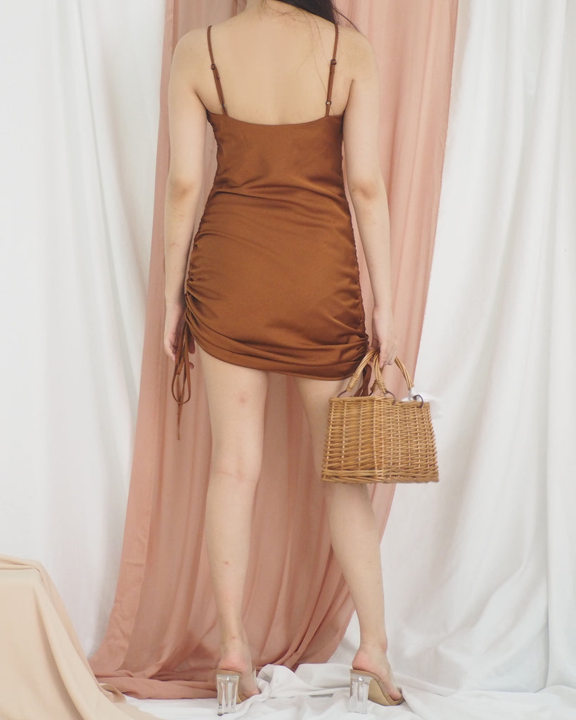 Meara Dress (BROWN)
