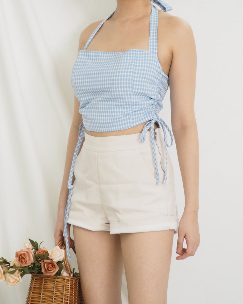 Jodell Top (BLUE GINGHAM)