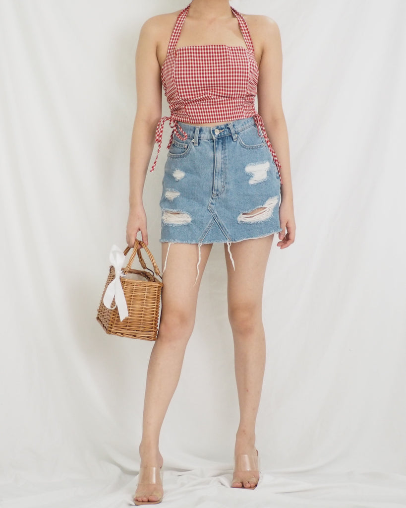 Jodell Top (RED GINGHAM)