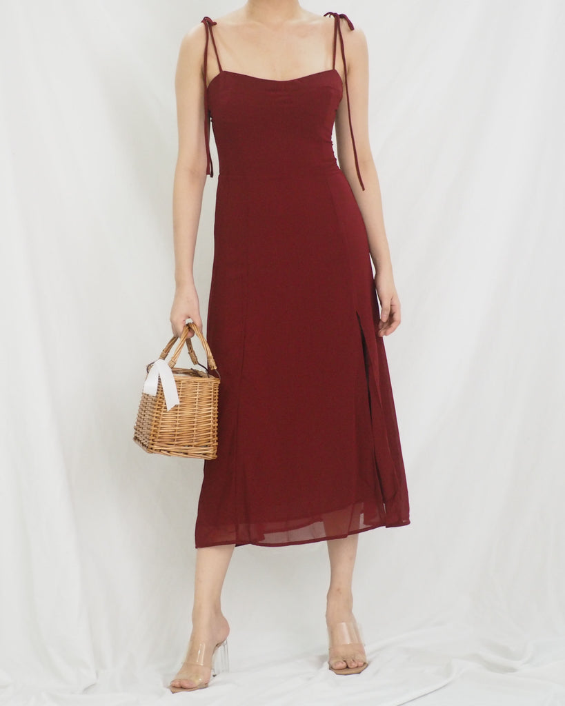 Nita Dress (MAROON)