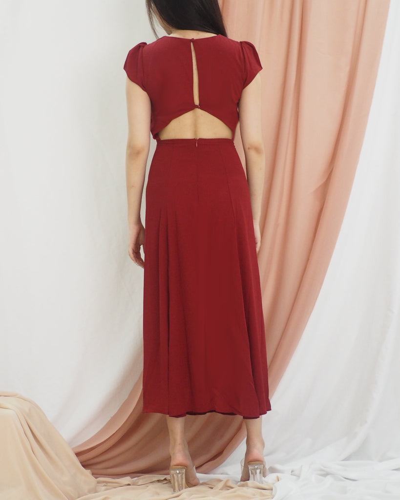 Jade Dress (MAROON)