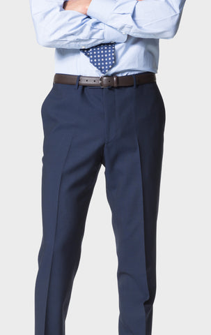 Navy 'Calm Twist' Trousers