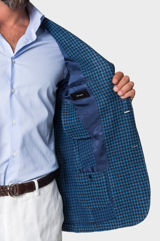 Blue Houndstooth Jacket