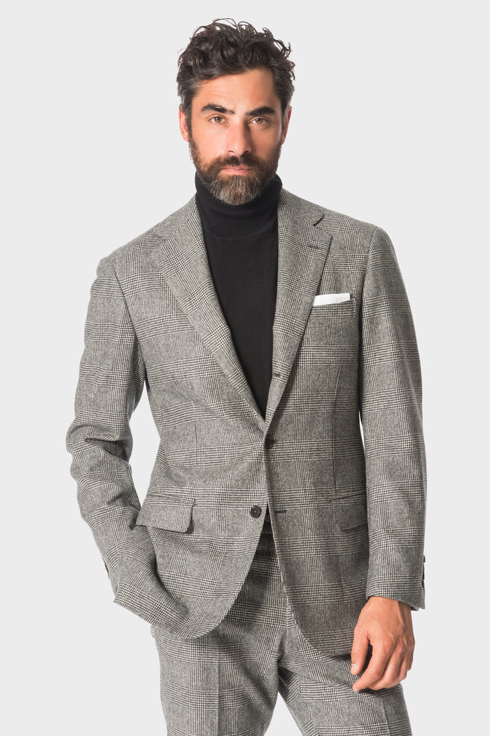 Grey Flannel Prince of Wales Suit