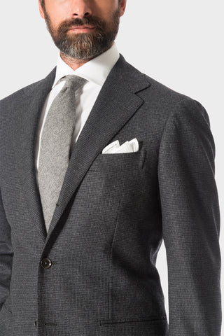 Grey Houndstooth 'Calm Twist' Suit