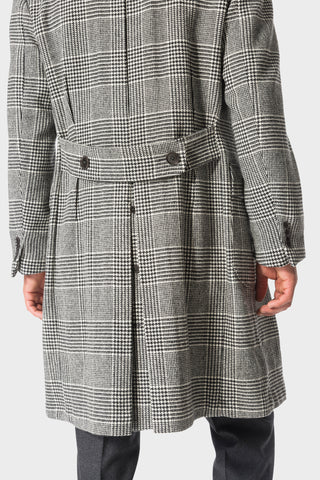 Grey Plaid 'Balloon' Overcoat
