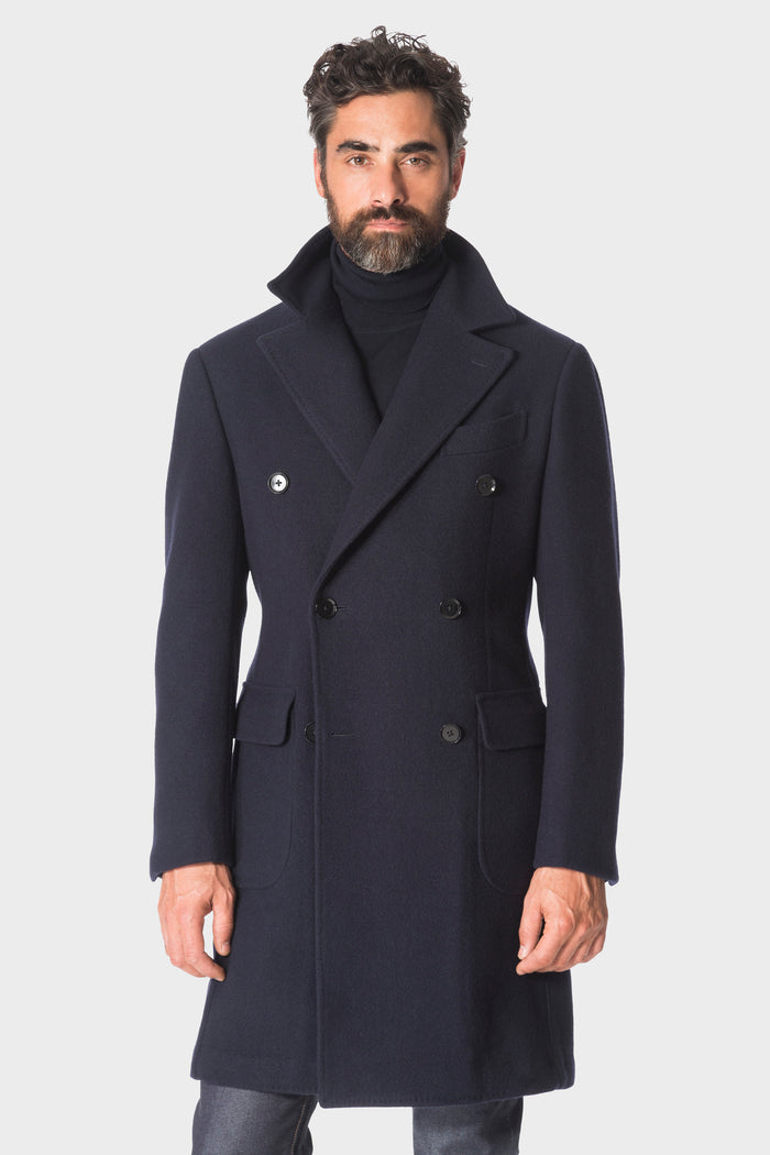 Navy 'Balloon' Overcoat
