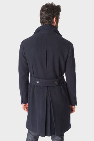 Navy 'Balloon' DB Polo Coat