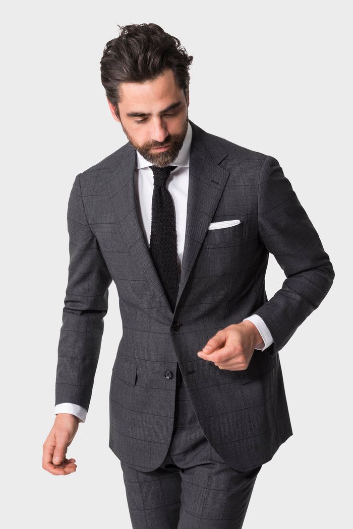 Grey Windowpane 'Calm Twist' Suit