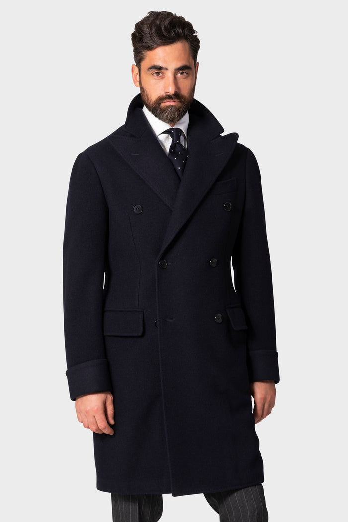 Navy 'Balloon' Polo Coat