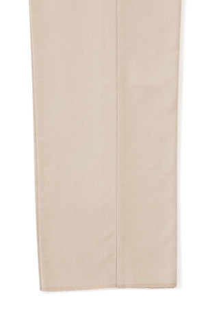 Stone Brushed Cotton Single Pleat Trousers