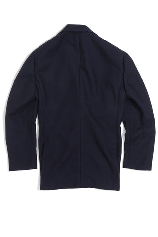 Navy Tonal Prince of Wales Check 'Balloon' Jacket