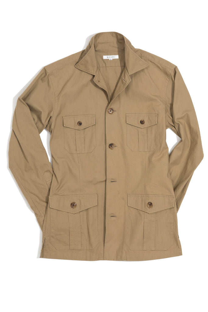 Tan Cotton Shirt Jacket