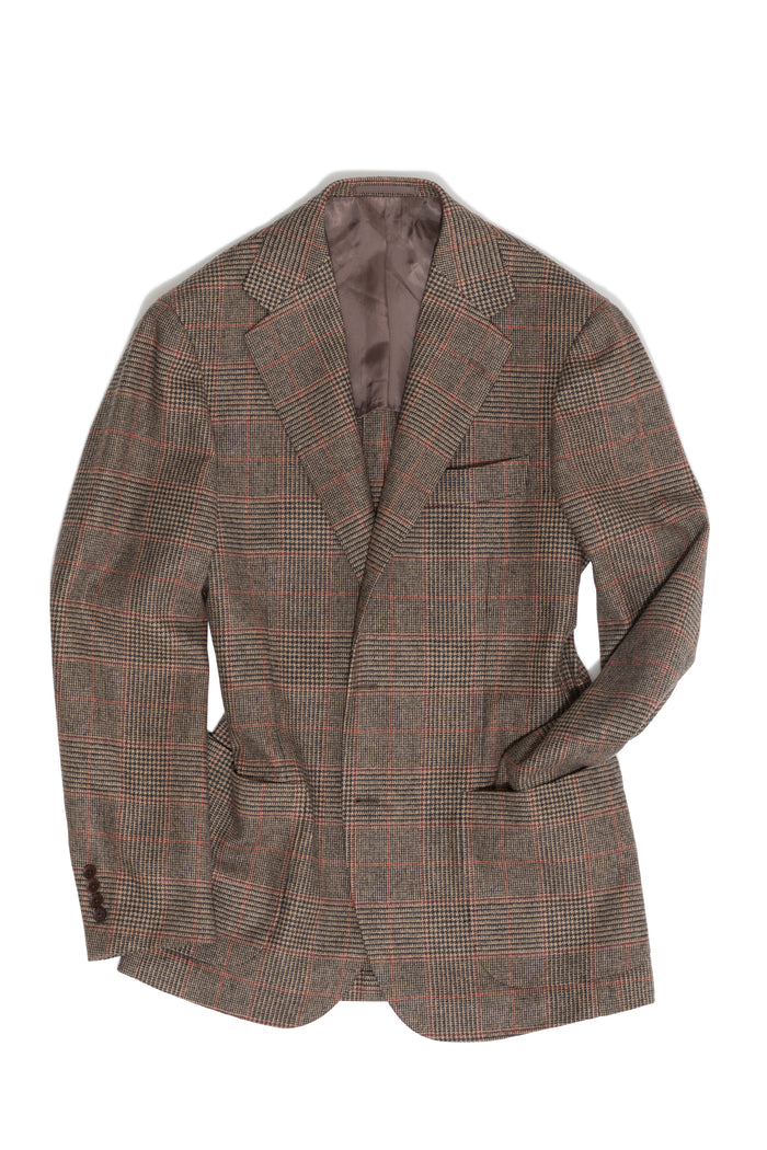 Brown Check 'Balloon' Tweed Jacket