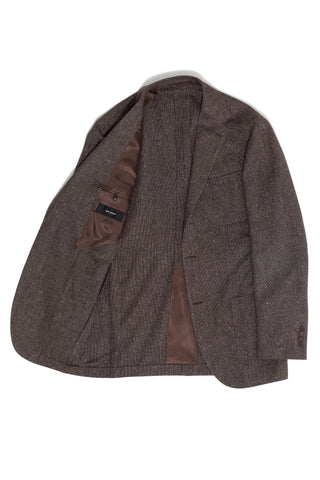 Brown Donegal 'Balloon' Jacket