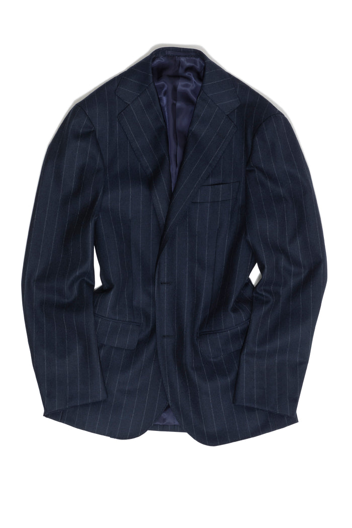 Navy Chalk Stripe 'Calm Twist' Suit