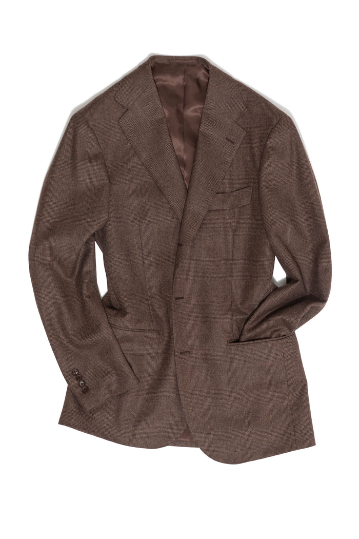 Brown Flannel Prince of Wales Suit