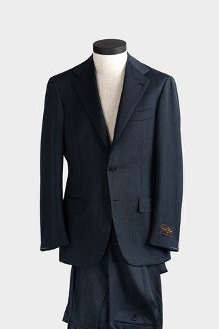 Denim Blue Cavalry Twill Suit