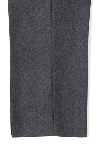 Medium Grey Flannel Single Pleat Trousers