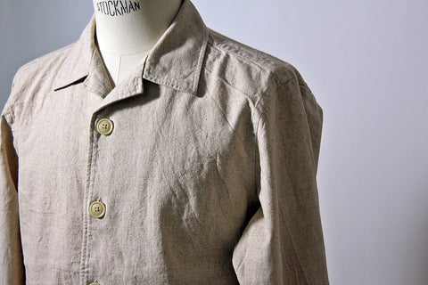 Oatmeal Cotton/Linen Blouson