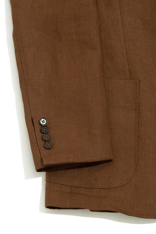 Tobacco Linen Suit