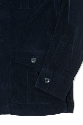 Navy Corduroy Shirt Jacket