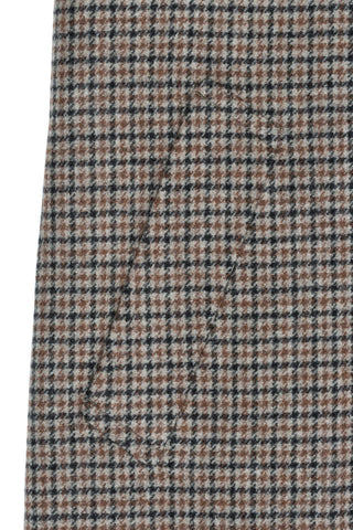 Beige Houndstooth Check Raglan Coat