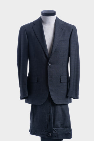 Grey & Blue Check Traveler Suit