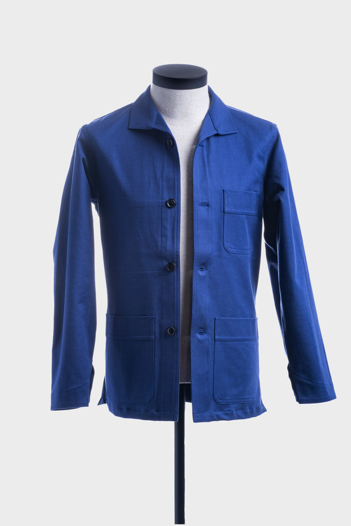 Blue Cotton Twill French Workwear Jacket