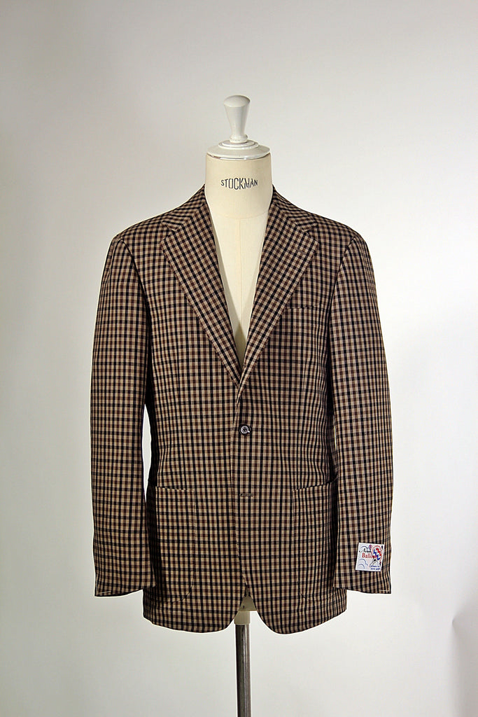 Brown Gunclub Check 'Balloon' Jacket