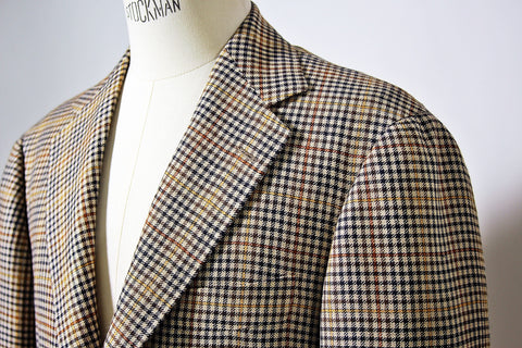 Multi-Color Check Wool/Linen Jacket