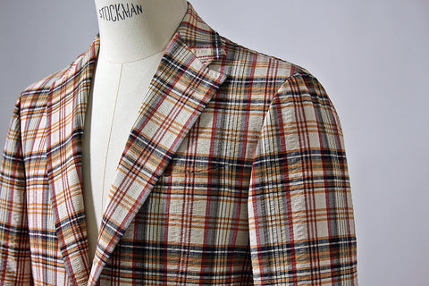 Madras 'Balloon' Seersucker Jacket