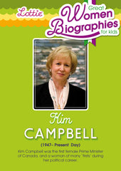 Kim Campbell biography for kids