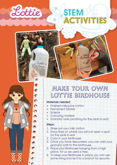 Make your own Lottie Birdhouse STEM Activity