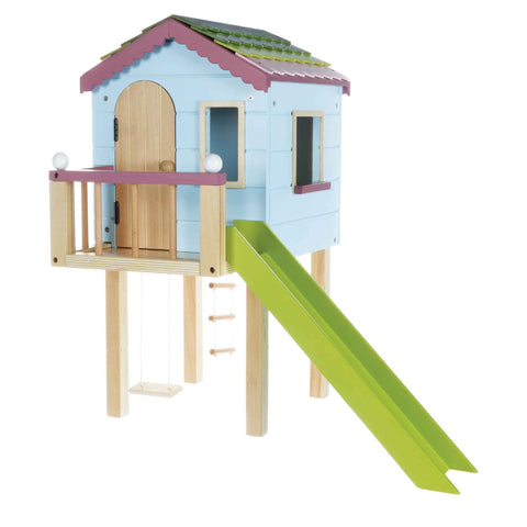 Wooden Treehouse Playset | Lottie Dolls Dollhouse
