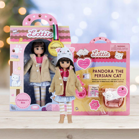 Collectible Doll | Pandora and Cat Accessory | Lottie
